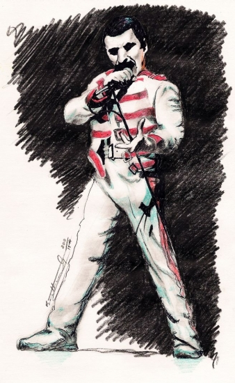 Freddie Mercury par Biggs